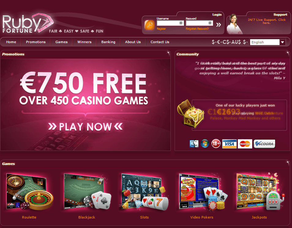 Indian Ruby Online Casino